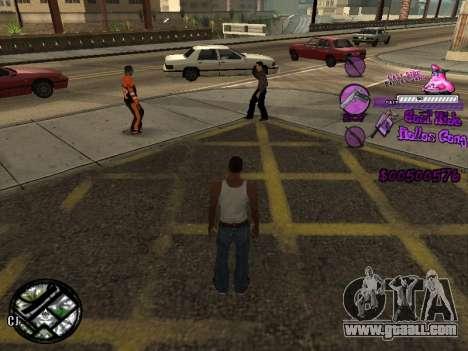 C-HUD Ballas for GTA San Andreas