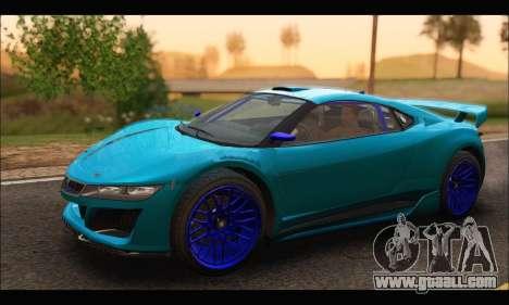 Dinka Jester Racecar (GTA V) (SA Mobile) for GTA San Andreas left view