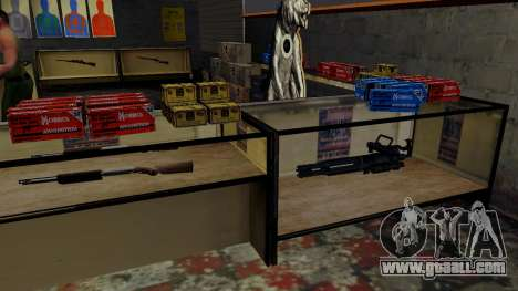 3D models of weapons in Ammu-nation for GTA San Andreas eleventh screenshot
