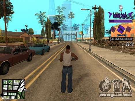 C-HUD Ballas for GTA San Andreas forth screenshot