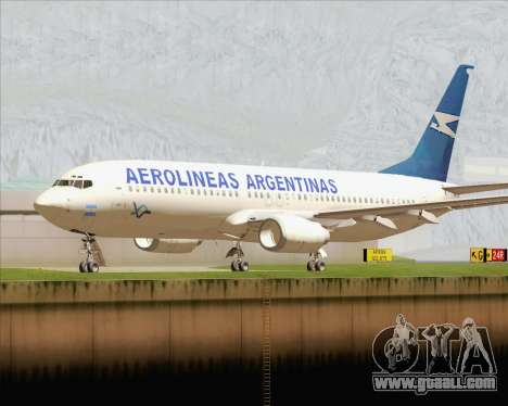 Boeing 737-800 Aerolineas Argentinas for GTA San Andreas left view