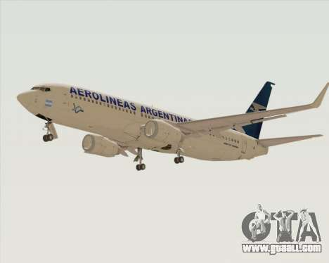 Boeing 737-800 Aerolineas Argentinas for GTA San Andreas back view