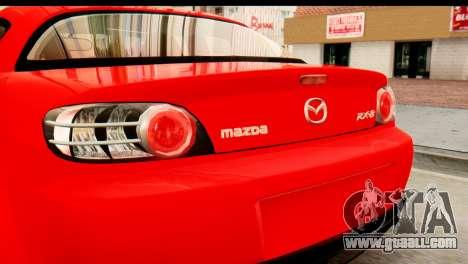Mazda RX-8 2005 for GTA San Andreas right view