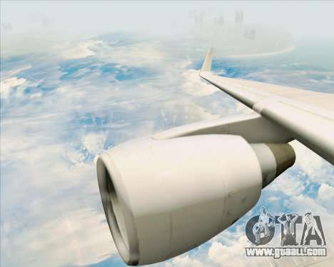 Boeing 757-200 Continental Airlines for GTA San Andreas bottom view