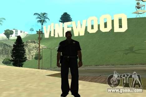 Black Police All for GTA San Andreas forth screenshot