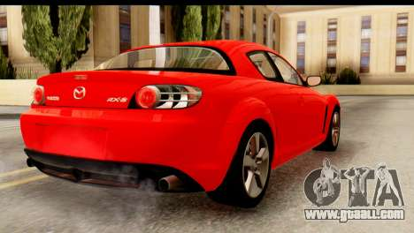 Mazda RX-8 2005 for GTA San Andreas left view
