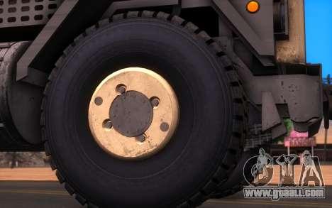 Oshkosh M1070 HET Tank Transporter for GTA San Andreas back left view