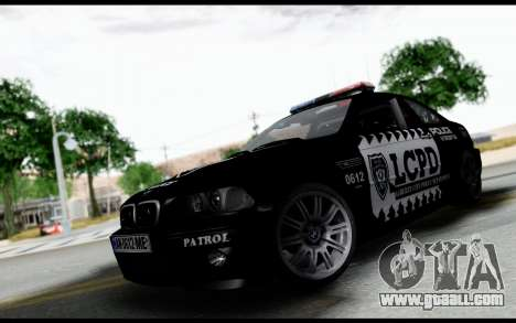 BMW M3 E46 Police for GTA San Andreas