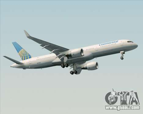 Boeing 757-200 Continental Airlines for GTA San Andreas inner view
