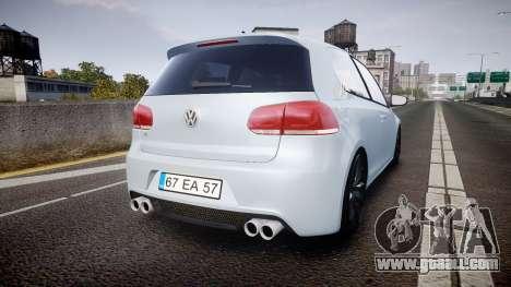 Volkswagen Golf R for GTA 4 back left view