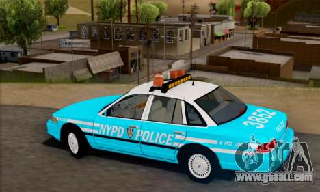 Ford Crown Victoria NYPD Blue for GTA San Andreas left view