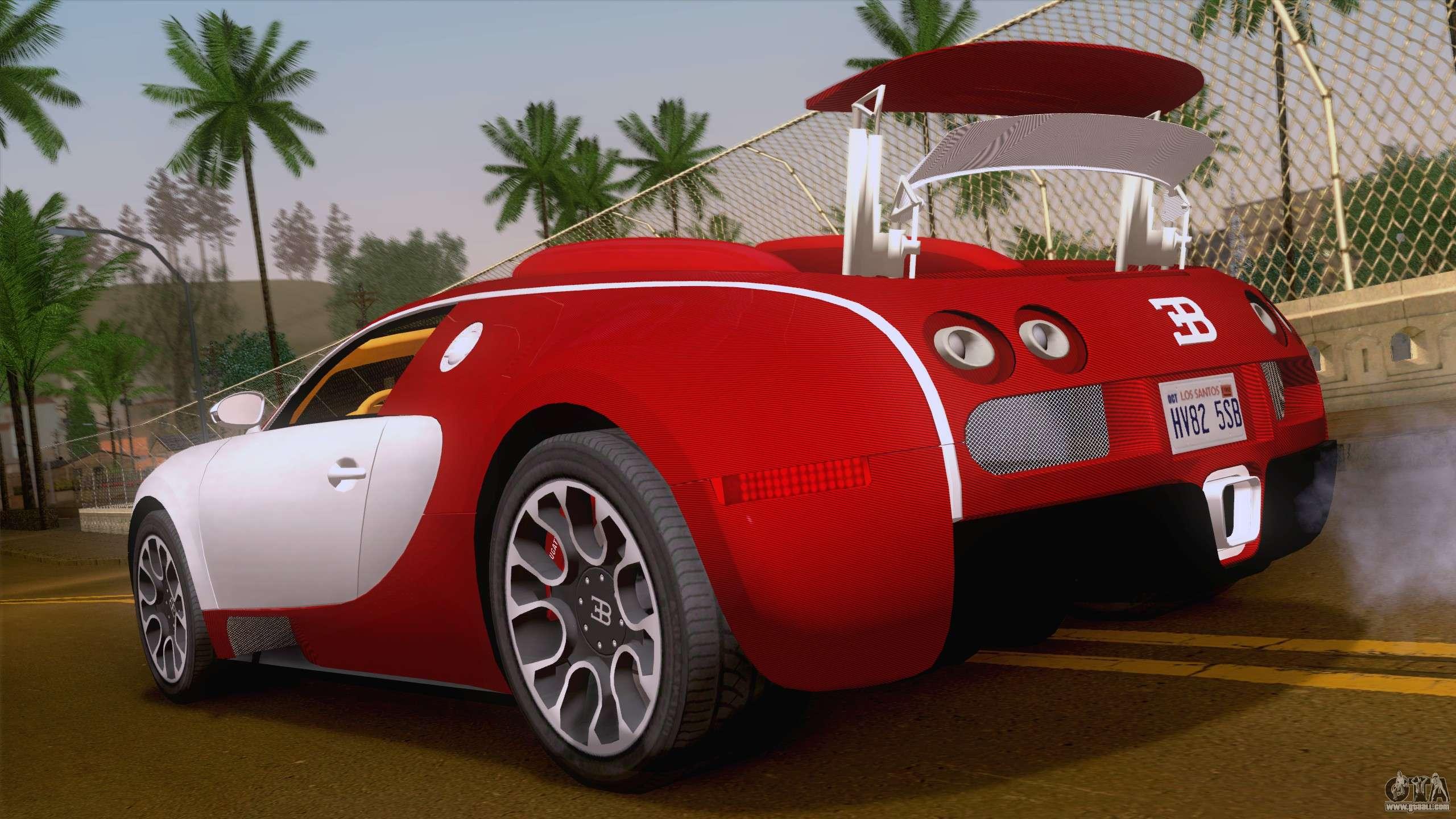 bugatti veyron grand sport sang bleu 2008 for gta san andreas. Black Bedroom Furniture Sets. Home Design Ideas