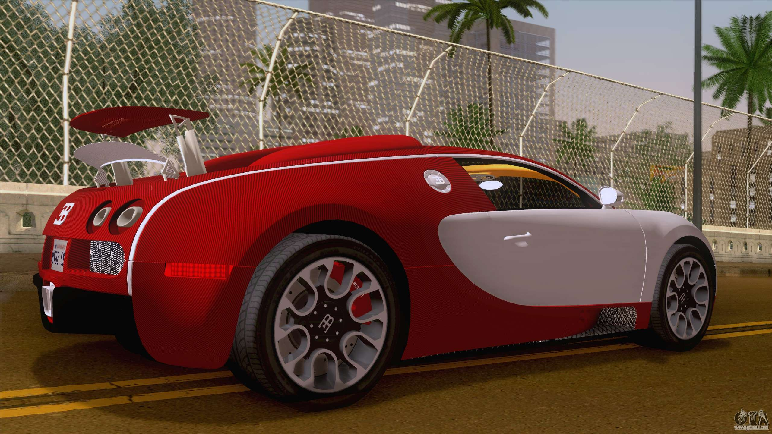 Bugatti Veyron Grand Sport Sang Bleu 2008 For GTA San Andreas Back Left View