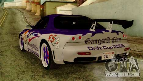 Mazda RX-7 Gangsta Club for GTA San Andreas