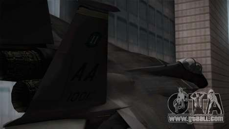 F-15 (Battlefield 2) for GTA San Andreas back left view