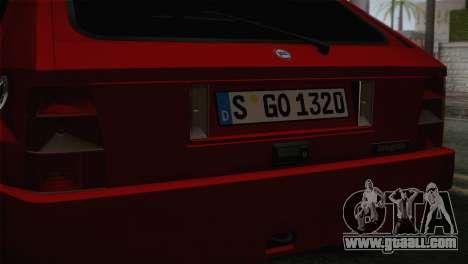 Lancia Delta EVO for GTA San Andreas back view