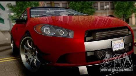 GTA 5 Maibatsu Penumbra IVF for GTA San Andreas back view