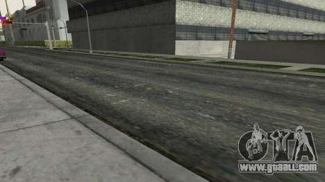 Roads and vegetation Los Santos for GTA San Andreas third screenshot