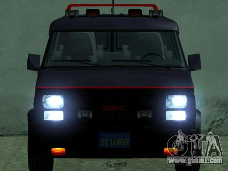 GMC The A-Team Van for GTA San Andreas back left view