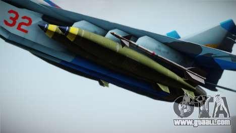 MIG-29 Russian Falcon for GTA San Andreas right view