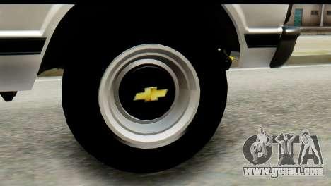 Chevrolet C10 Patrulla for GTA San Andreas back left view