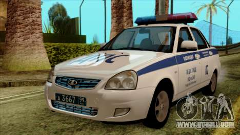 Lada Priora 2170 Police DPS Moscow for GTA San Andreas
