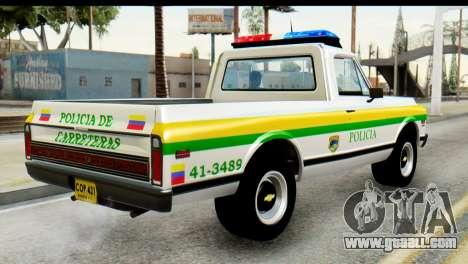 Chevrolet C10 Patrulla for GTA San Andreas left view