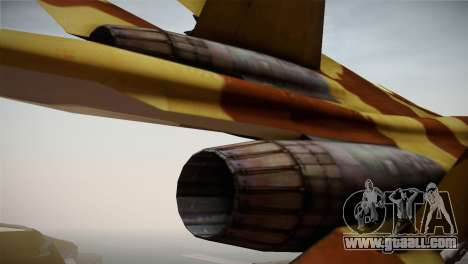 SU-37 Terminator for GTA San Andreas back view