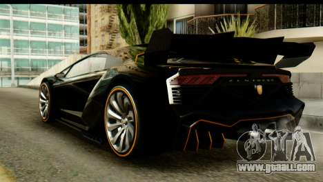 GTA 5 Pegassi Zentorno v2 SA Mobile for GTA San Andreas left view