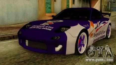 Mazda RX-7 Gangsta Club for GTA San Andreas