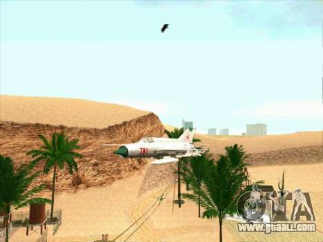 MiG 21 for GTA San Andreas left view