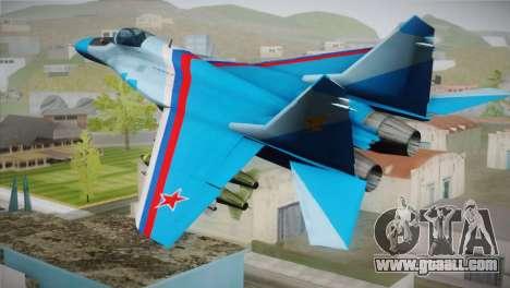 MIG-29 Russian Falcon for GTA San Andreas left view