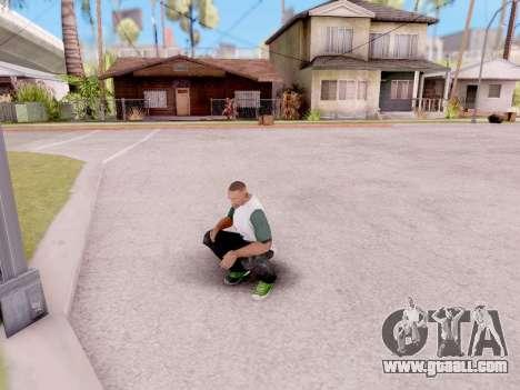 Real animations from GTA 5 for GTA San Andreas third screenshot