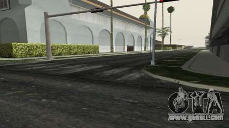 Roads and vegetation Los Santos for GTA San Andreas forth screenshot