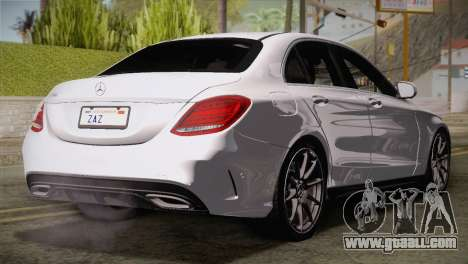 Mercedes-Benz C250 AMG Edition 2014 EU Plate for GTA San Andreas