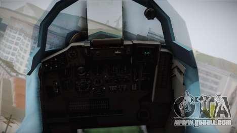 MIG-29 Russian Falcon for GTA San Andreas back view