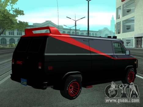 GMC The A-Team Van for GTA San Andreas left view
