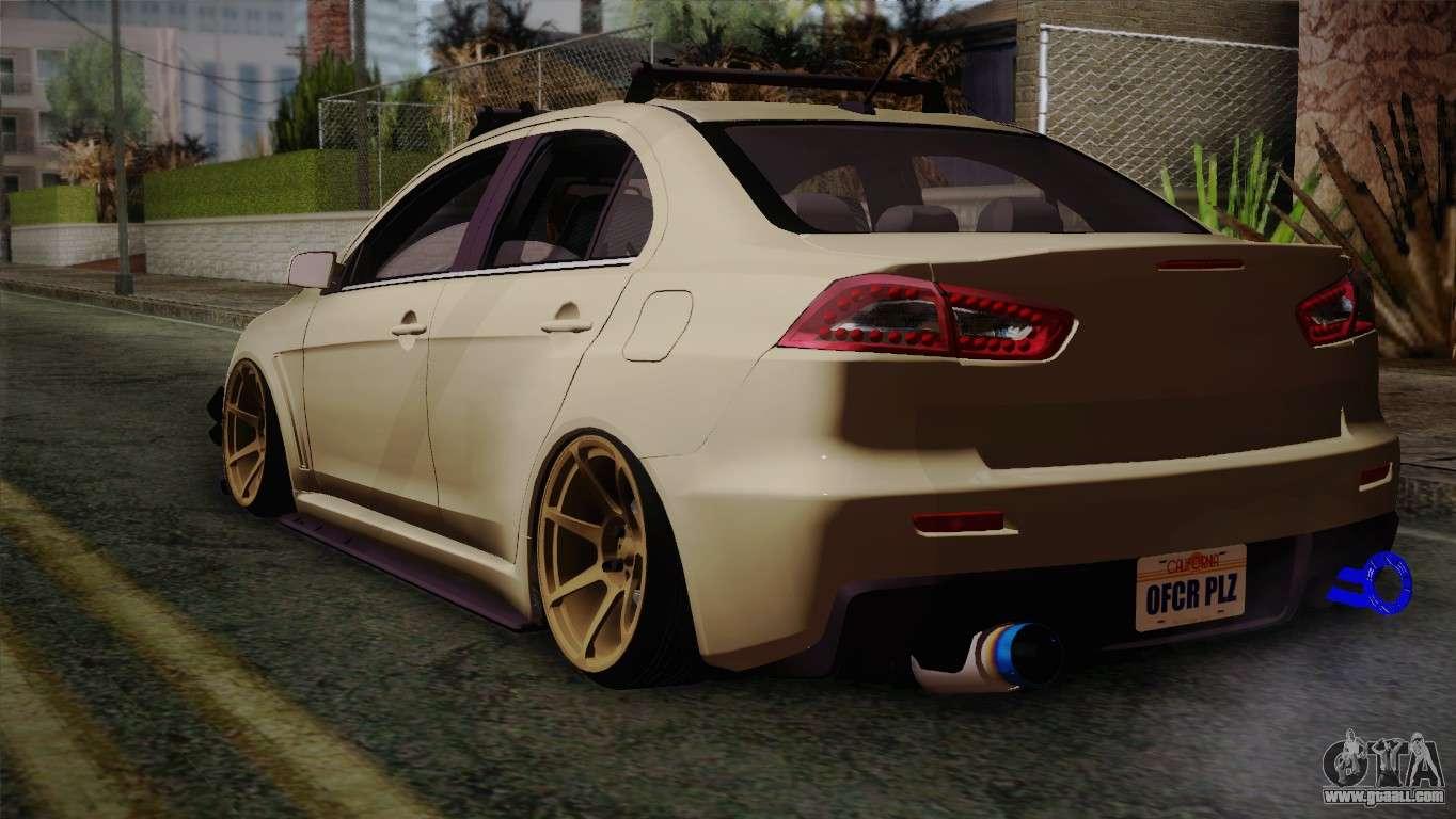 Gta Sa on Mitsubishi Lancer 2