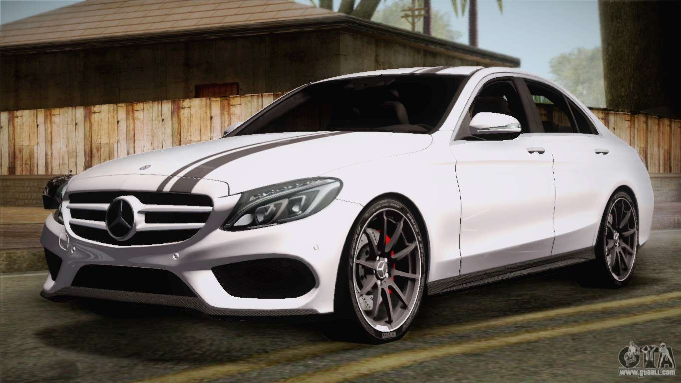 Mercedes benz c250 amg edition 2014 eu plate for gta san for Mercedes benz plate