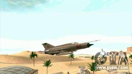 MiG 21 for GTA San Andreas