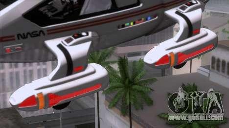 Shuttle v2 Mod 2 for GTA San Andreas back left view