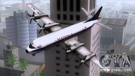 L-188 Electra Mandala Airlines for GTA San Andreas