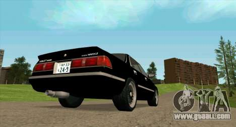Toyota Mark II 2.5GT TwinTurbo (JZX81) for GTA San Andreas right view