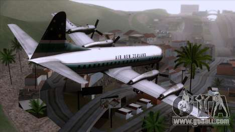 L-188 Electra Air New Zealand for GTA San Andreas left view