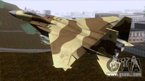 F-15C Camouflage Pack for GTA San Andreas left view
