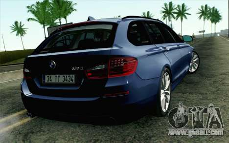 BMW 530d F11 Facelift HQLM for GTA San Andreas left view