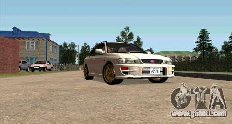 Subaru Impreza Sports Wagon WRX STI for GTA San Andreas inner view