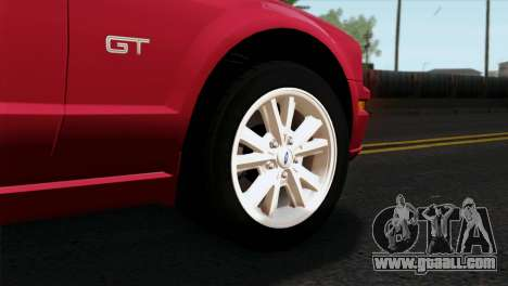 Ford Mustang GT PJ Wheels 2 for GTA San Andreas back left view