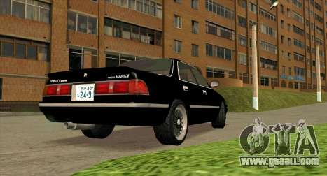 Toyota Mark II 2.5GT TwinTurbo (JZX81) for GTA San Andreas back left view