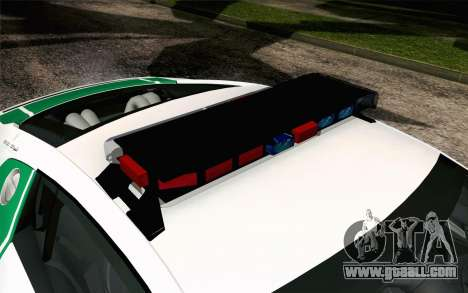 Audi R8 V8 FSI 2014 Dubai Police for GTA San Andreas back view